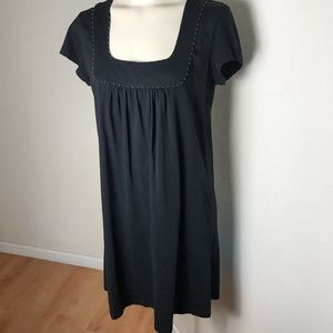 French Connection Black 100% cotton babydoll dress